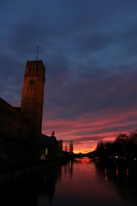 Sunset on the Isar